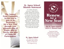 St. Agnes School Focused Campaign Brochure