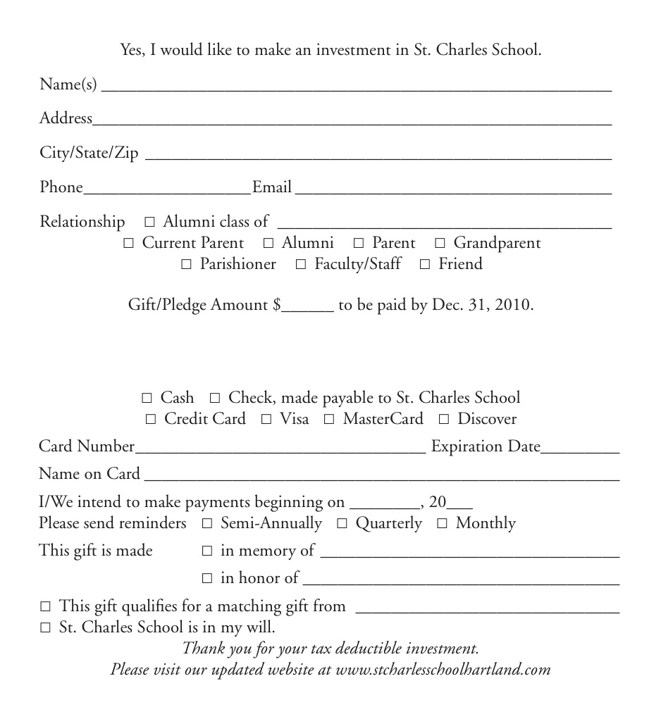 AF Gift Reply Form St. Charles SAMPLE2