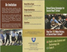 Sacred Heart School Annual Fund Brochure