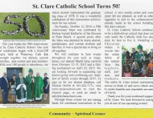 St. Clare March 2015 Quarterly Newsletter