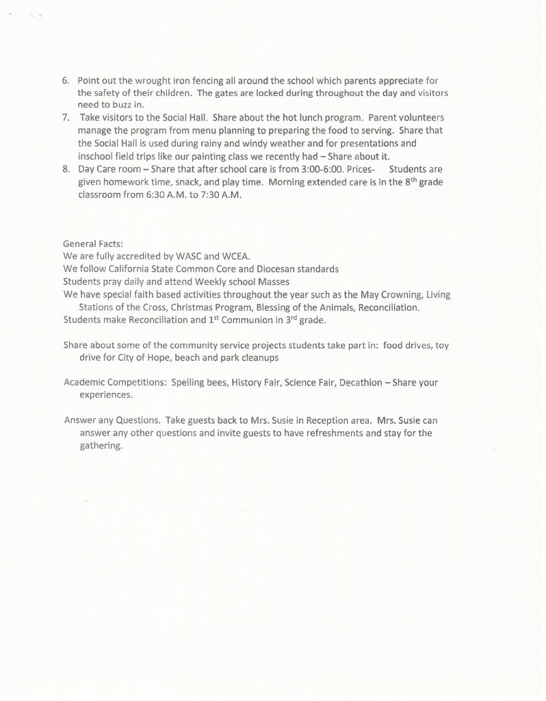 Open House - Tour Leader Script -pg 2
