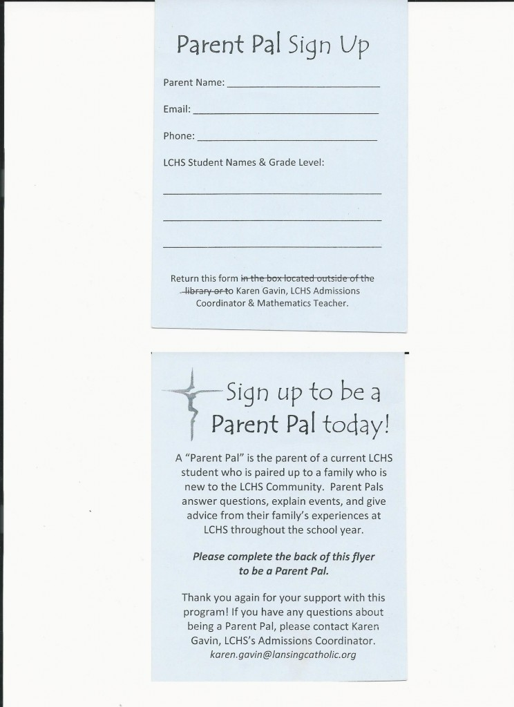 Parent Pal Sign Up - LCHS