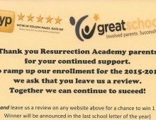 Social Media Review Request – Resurrection Academy